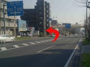 八ヶ崎交差点左折